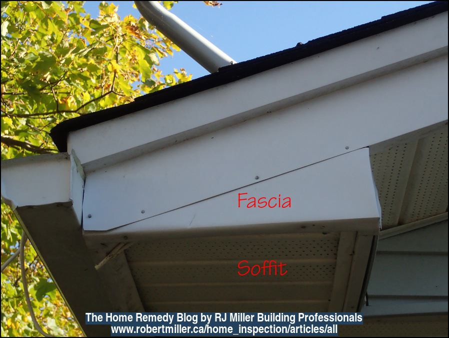 Picture of cladding, fascia, and soffit.